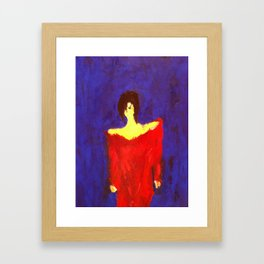 LADY IN RED.... Framed Art Print