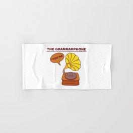 The Grammarphone - Funny Gramophone Wordplay Hand & Bath Towel