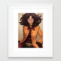 charmaine olivia Framed Art Prints featuring Olivia by Rafa ArSen