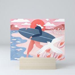 Evening surf Mini Art Print