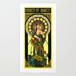 Queen of gluten/Goddess of harvest Art Print