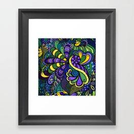 Multicolor Doodle Framed Art Print