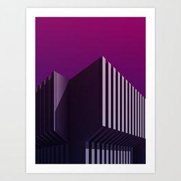 Calorifère - Brutalist purple verticality Art Print
