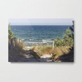 Sand Dune on the Isle of Ruegen Metal Print