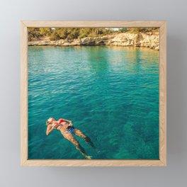 floater Framed Mini Art Print