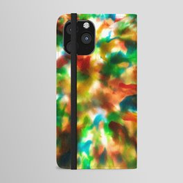Tie Dye Recycle #preciousplastic iPhone Wallet Case