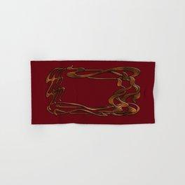 Art  Nouveau  red gold horizontal  Hand & Bath Towel