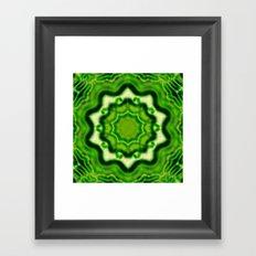 WOOD Element kaleido pattern Framed Art Print