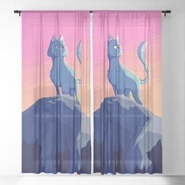A Blue Leader Sheer Curtain
