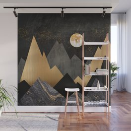 Metallic Night Wall Mural