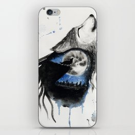 Moon Wolf iPhone Skin