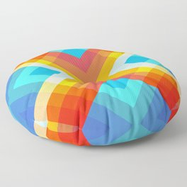 Abstract Retro Pattern 10 Floor Pillow