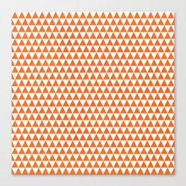 triangles - orange and white Canvas Print