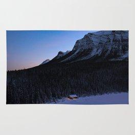 Dreamy Sunrise in Lake Louise Rug