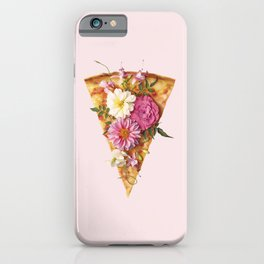 FLORAL PIZZA iPhone Case