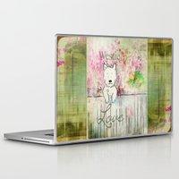 westie Laptop & iPad Skins featuring  Westie Love ~ West Highland Terrier ~ Ginkelmier by Ginkelmier