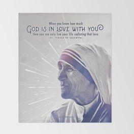 "Mother Teresa ""Radiating Love"" Throw Blanket"