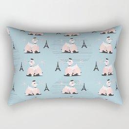 Poodle in Paris Rectangular Pillow