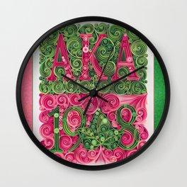 Alpha Kappa Alpha 1908 Wall Clock