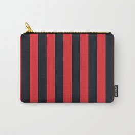 Vertical Stripes Black & Red Carry-All Pouch