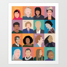 Women Can Change The World Art Print