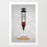 movies Art Prints featuring Addicted: Movies by Geminianum