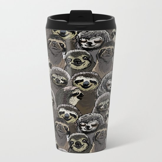 Social Sloths Metal Travel Mug