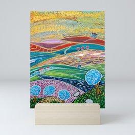 Patchwork Hilltop Mini Art Print