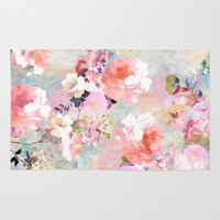 flower pattern Area & Throw Rugs featuring Love of a Flower by Girly Trend