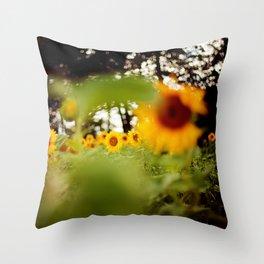 Sonnenblumen im Sommer Throw Pillow