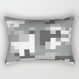Army Camouflage Pixelated Pattern Snow Mountain Rectangular Pillow