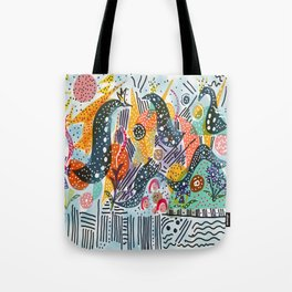 Sea Monster Birthday Party Tote Bag