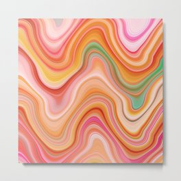 Bubble gum memories - Abstract Pink Pattern Metal Print