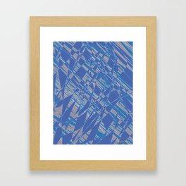 Blue Neon (The Gradient) Framed Art Print