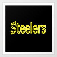 steelers Art Prints featuring Steelers - #1 by Judy Palkimas
