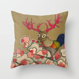 Chickedeer Blossoms Throw Pillow