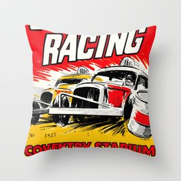 Coventry Stock Car Racing Poster Throw Pillow