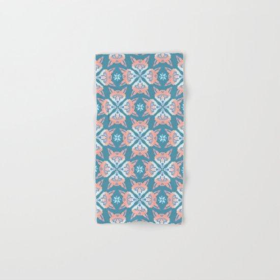Pastel Fox Pattern Hand & Bath Towel