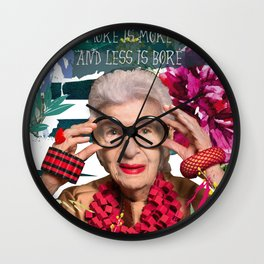 More is more and less is bore Wall Clock