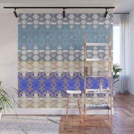 Sweet Lovely Intricate Boho Blues Lace Detail Wall Mural