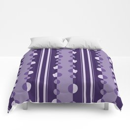 Modern Circles and Stripes in Violet Comforters