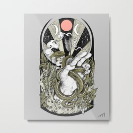 Reap and Sow (Olive Variant) Metal Print