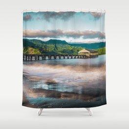 Hanalei Pier Kauai Hawaii  Shower Curtain