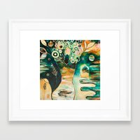 "flora bowley Framed Art Prints featuring ""Thirty Six"" Original Painting by Flora Bowley by Flora Bowley"
