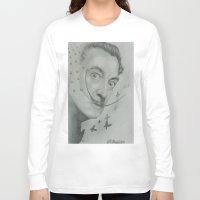 salvador dali Long Sleeve T-shirts featuring Salvador Dali  by KennethShaw