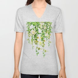 Watercolor Ivy Unisex V-Neck
