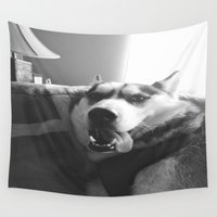 miley Wall Tapestries featuring Do the Miley, Koda by Ella Ares