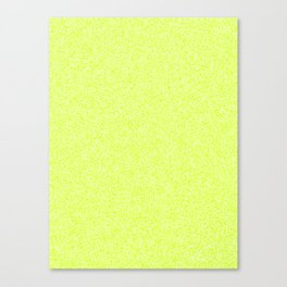 Melange - White and Fluorescent Yellow Canvas Print
