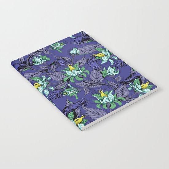 The Sea Garden - deep blue Notebook