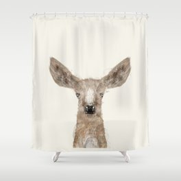 little deer fawn Shower Curtain